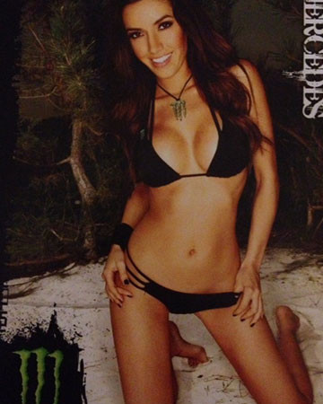 Monster energy poster signed by mercedes terrell